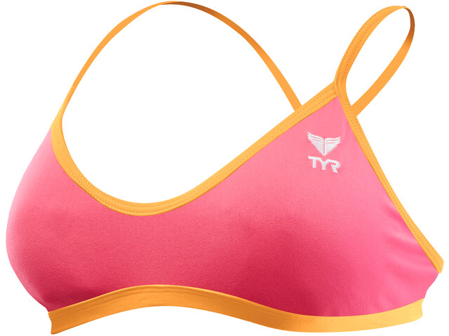 TYR Solid Trinity Top Damen fluo pink/orange